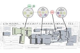 Le futur établissement sera organisé autour de trois édifices majeurs: le pôle ambulatoire, le pôle critique, et le Centre intégré de cancérologie.Photo de CHU de Québec/Université Laval