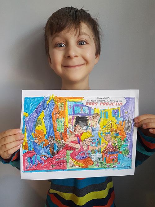 Samuel, 7 ans dans la catégorie 6-8 ans