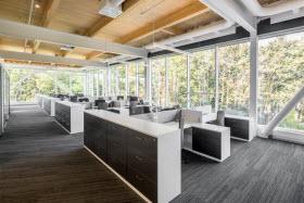 Bureaux de Pomerleau - Espace de travail  - Photo de Jonathan Robert
