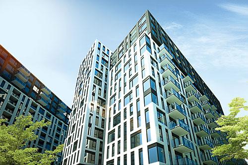 Square d'Orval - Architecture épurée et pure verdure. Crédit : NADG